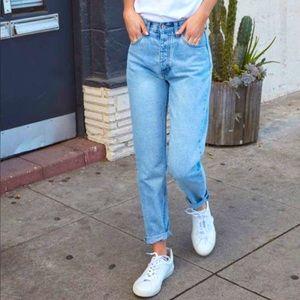 J. Galt Straight Leg High Rise Button Fly Jeans